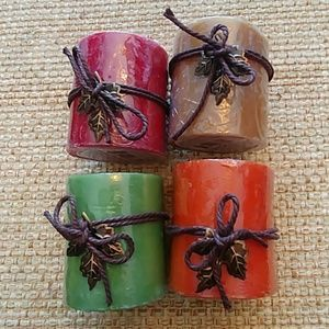 Fall candle set of 4